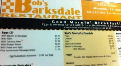 Photo of Cafe Barksdale Restaurant at 237 S Cooper St, Memphis, TN 38104, United States