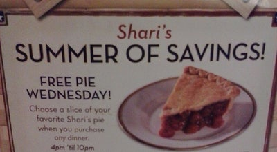 Photo of American Restaurant Shari's at 16 E Valley Mall Blvd, Union Gap, WA 98903, United States