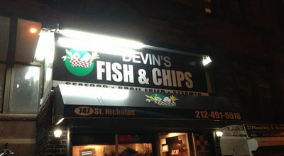 Photo of Seafood Restaurant Devin's Fish & Chips at 747 Saint Nicholas Ave, New York, NY 10031, United States