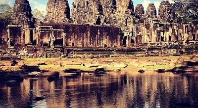 Photo of Historic Site Bayon Temple at Angkor Thom, Siem Reap, Cambodia