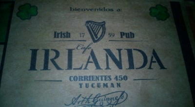 Photo of Beer Garden Bar Irlandes at Corrientes 450, San Miguel de Tucumán, Argentina