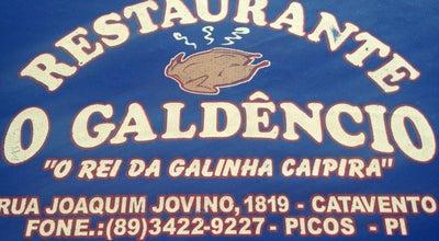 Photo of Brazilian Restaurant Restaurante O Galdêncio at R. Joaquim Jovino, 1819, Picos 64600-000, Brazil