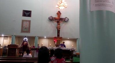 Photo of Church Gereja Hati Yesus yang Maha Kudus at Jl. Veteran, Banjarmasin, Indonesia