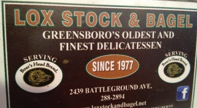 Photo of American Restaurant LOX Stock & Bagel at 2439 Battleground Ave, Greensboro, NC 27408, United States