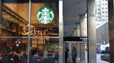 Photo of Coffee Shop Starbucks at 1301 Avenue Of The Americas, New York, NY 10019, United States