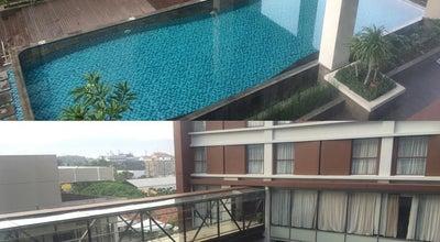 Photo of Roof Deck Pool Terrace MERCURE Hotel Padang at Indonesia