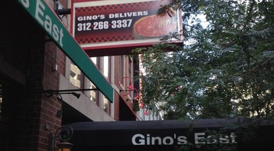 Photo of Pizza Place Gino's East of Chicago at 162 E Superior St., Chicago, IL 60611, United States