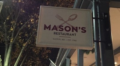 Photo of American Restaurant Mason's at 22 S Harrison St, Easton, MD 21601, United States