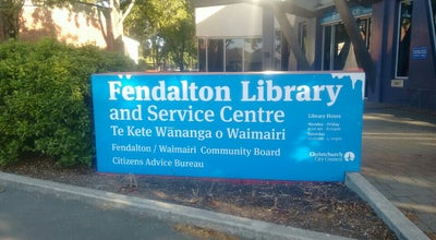 Photo of Library Fendalton Library & Service Centre at 4 Jeffreys Rd, Christchurch 8052, New Zealand