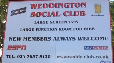 Photo of Bar Weddington Social and Athletics Club at Nuneaton, Warwickshire Cv10 0er, Nuneaton CV10 0ER, United Kingdom