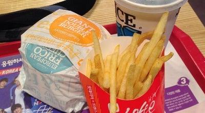 Photo of Burger Joint 롯데리아 (LOTTERIA) at 동대구로 550 (신맞이방), Daegu, South Korea