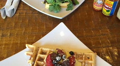 Photo of Cafe Belgium Waffle Haus at 18100 Chatsworth St., Granada Hills, Ca 91344, United States