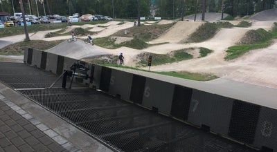 Photo of Racetrack Rīgas BMX trase Mežaparks at Latvia