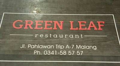 Photo of Asian Restaurant Green Leaf at Jl. Pahlawan Trip A7, Malang, Indonesia