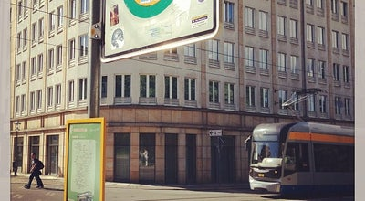 Photo of Bus Stop MeinFernbus Haltestelle Leipzig at Goethestr., Leipzig 04109, Germany
