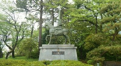Photo of Outdoor Sculpture 前田利長公騎馬像 at 古城, 高岡市, Japan