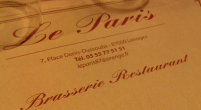 Photo of French Restaurant Le Paris at 6-8 Place Denis Dussoubs, Limoges 87000, France