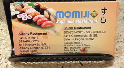 Photo of Japanese Restaurant Momiji at 3411 Commercial St Se, Salem, OR 97302, United States