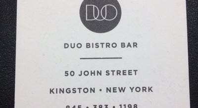 Photo of New American Restaurant Duo Bistro at 50 John St, Kingston, NY 12401, United States