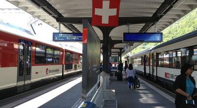 Photo of Train Station Bahnhof Interlaken Ost at Untere Bönigstr., Interlaken 3800, Switzerland