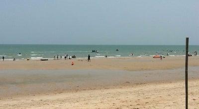 Photo of Beach เตียงผ้าใบริมชายหาดชะอำ at Cha-am, Thailand