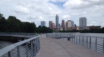 Photo of Pedestrian Plaza Lady Bird Lake Boardwalk Trail at Austin, TX, United States