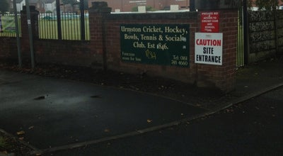Photo of Beer Garden Urmston cricket club at Moorside Road, Trafford M41, United Kingdom