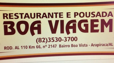 Photo of Brazilian Restaurant Restaurante Boa Viagem at Al-110, Arapiraca 57300-000, Brazil