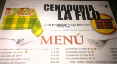 Photo of Diner La filo at Fco.i.madero 582 Pte, Culiacan 80000, Mexico