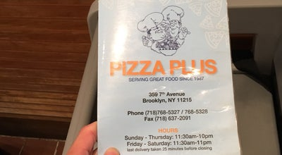 Photo of Pizza Place Pizza Plus at 359 7th Ave, Brooklyn, NY 11215, United States