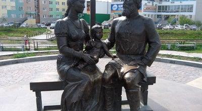 Photo of Outdoor Sculpture Памятник Семёну Дежнёву и Абакаяде Сючю at Russia
