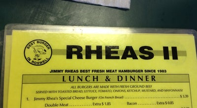 Photo of Burger Joint Rheas II at 11490 Alpharetta Hwy, Roswell, GA 30076, United States