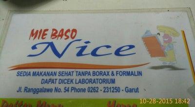 Photo of Asian Restaurant Mie Baso Nice at Jln. Ranggalawe, Garut, Indonesia