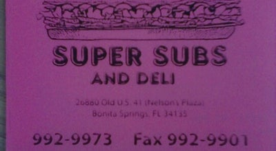 Photo of Sandwich Place Stan's Subs at 26880 Old 41 Rd, Bonita Springs, FL 34135, United States