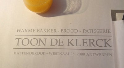 Photo of Bakery Bakkerij Toon De Klerck at Kattendijkdok Westkaai 28, Antwerpen, Belgium