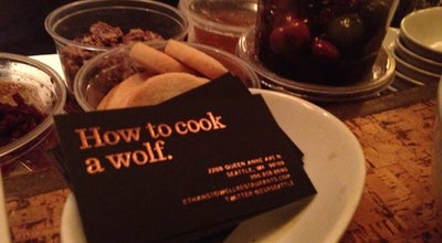 Photo of Italian Restaurant How To Cook A Wolf at 2208 Queen Ann Ave N, Seattle, WA 98109, United States