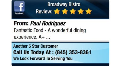 Photo of Italian Restaurant Broadway Bistro at 3 S Broadway, Nyack, NY 10960, United States