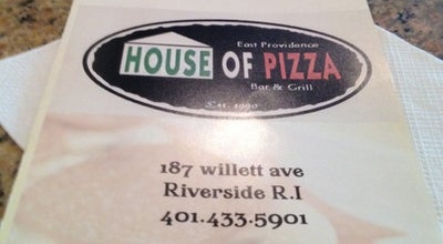Photo of Pizza Place East Providence House Of Pizza at 187 Willett Ave, Riverside, RI 02915, United States