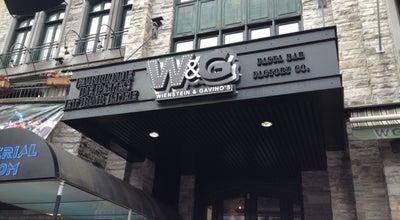 Photo of Italian Restaurant Wienstein & Gavino's at 1434, Rue Crescent, Montréal, QC H3G 2B2, Canada