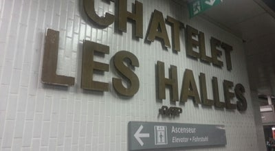 Photo of Train Station RER Châtelet – Les Halles [A,B,D] at Forum Des Halles, Paris 75001, France