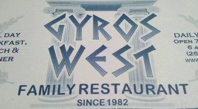 Photo of Greek Restaurant Gyros West at 1538 E Moreland Blvd, Waukesha, WI 53186, United States