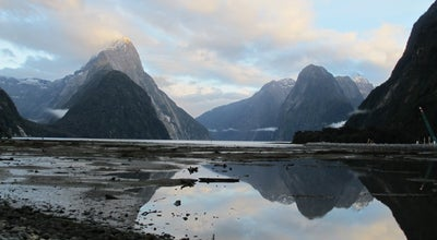 Photo of Scenic Lookout Milford Sound at Fiordland National Park, Milford Sound 9679, New Zealand