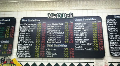 Photo of Italian Restaurant M & O Market and Deli at 124 Thompson St, New York City, NY 10012, United States