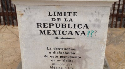 Photo of Monument / Landmark Límite de la República Mexicana. at Tijuana, Mexico