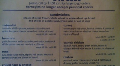 Photo of Sandwich Place Carnegie's at 1600 Oregon St, Redding, CA 96001, United States