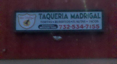 Photo of Mexican Restaurant Taqueria Madrigal at 105 Cedarbridge Ave, Lakewood, NJ 08701, United States