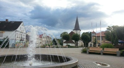 Photo of Plaza Strūklaka at Tukums, Latvia
