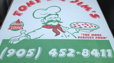 Photo of Pizza Place Tony & Jim's Place at 10 Flowertown Ave, Brampton, ON L6X 2J9, Canada