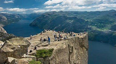 Photo of Mountain Preikestolen at Ryfylke, Fløyrli 4100, Norway