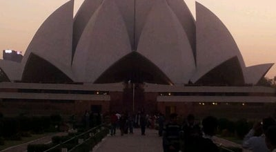 Photo of Spiritual Center Lotus Temple (Bahá'í House of Worship) at Bahapur, Kalkaji, New Delhi 110019, India